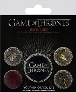Game of Thrones 5 Pin Badges in Pack (py)